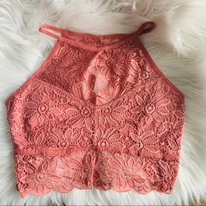 NEW Dusty Rose Lace Bralette with Lined Cups